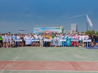 Поздравляем команду профсоюза ПАО «Уфаоргсинтез» с победой! Летний физкультурно-спортивный фестиваль РОБ НГСП России